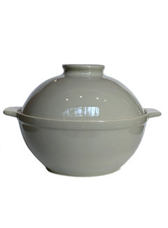 Sassafras Superstone Bread Dome Glazed - Grey