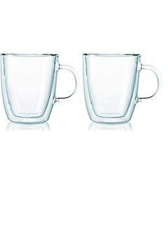 Bodum Double Wall Thermo-Glass Mugs, Set of 2