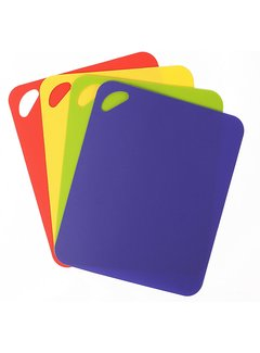 "Dexas 4 Pack Heavy Duty Grippmat Set 11.5""x14"" Blue,Red,Yellow,Green"