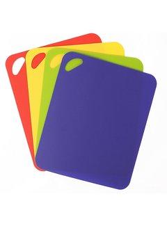 "Dexas 4 Pack Heavy Duty Grippmat Set 11.5""x14"" Blue,Red,Yellow,Green"