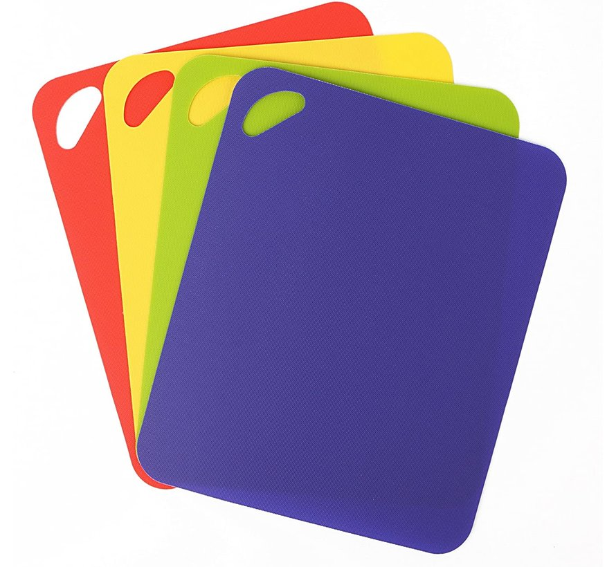 "4 Pack Heavy Duty Grippmat Set 11.5""x14"" Blue,Red,Yellow,Green"