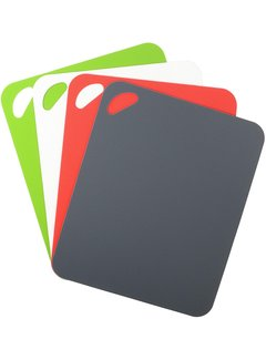 "Dexas 4 Pack Heavy Duty Grippmat Set 11.5""x14"" Gray,Red,White,Green"