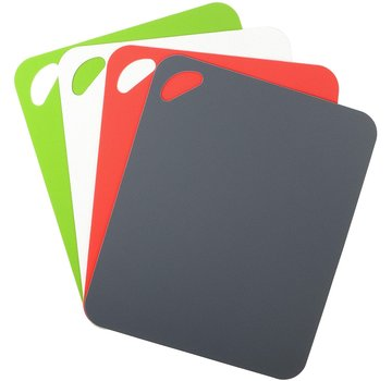 "Dexas 4 Pack Heavy Duty Grippmat Set 11.5""x14"" Gray,Red,White,Green"