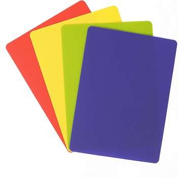 "Dexas 4 Pack Heavy Duty Grippmat Set 8""x11"" Blue,Red,Yellow,Green"