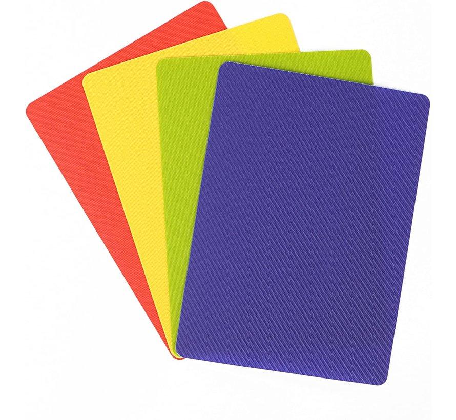 "4 Pack Heavy Duty Grippmat Set 8""x11"" Blue,Red,Yellow,Green"