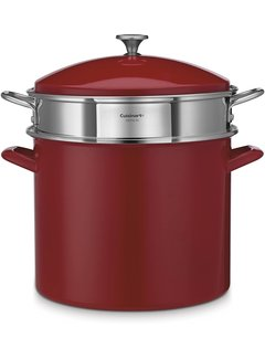 Cuisinart 20 Qt Stockpot/Steamer 3Pc Set - Red