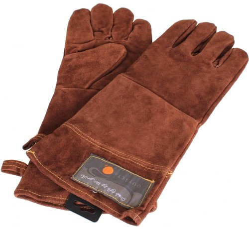 """Fox Run Leather 15"""" Grill Gloves"""