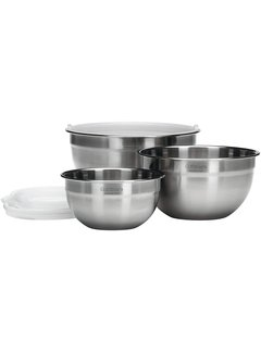 Cuisinart Stainless Steel Mixing Bowl Set W/ Lids