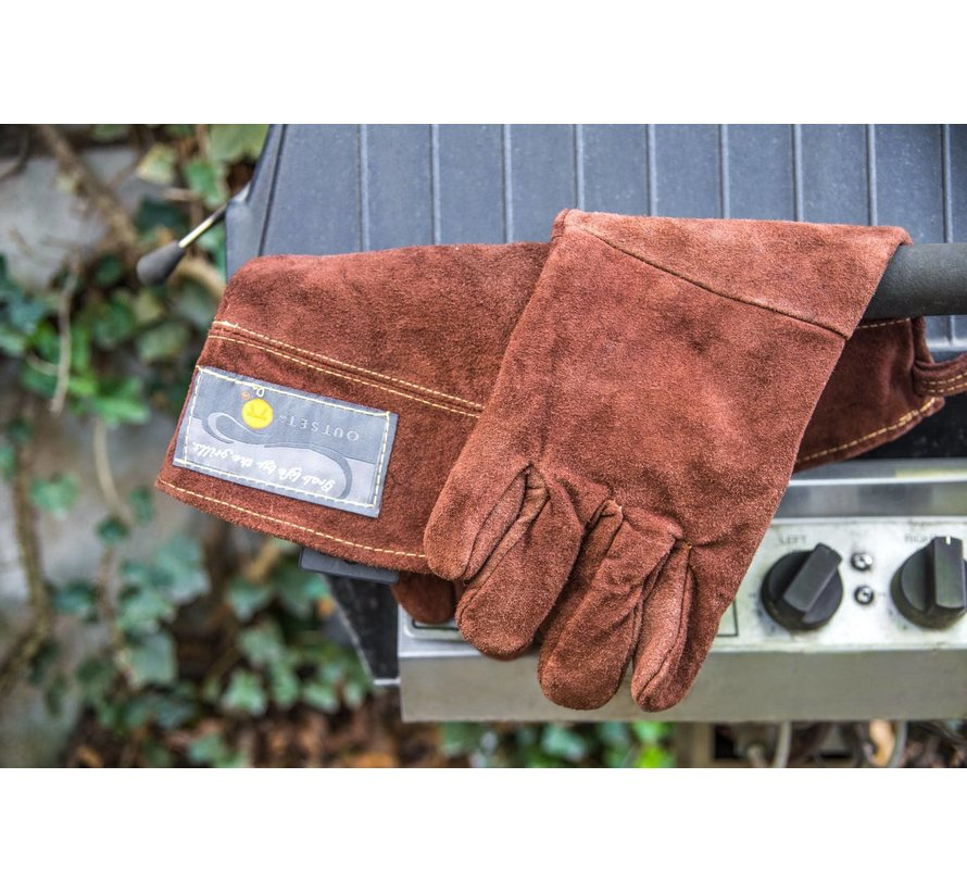 """Leather 15"""" Grill Gloves"""