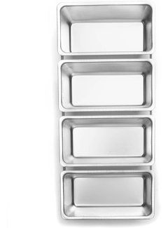 Fox Run Bread Pans, Set of 4 Linked 5.5""