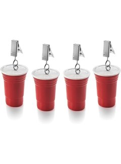 Fox Run Red Cup Tablecloth Weights Set/4