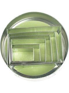 Fox Run Rectangles Stainless Steel Cookie Cutter Set