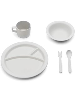 Fox Run 5 Piece Dinner Set, Grey