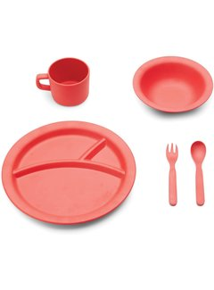 Fox Run 5 Piece Dinner Set, Red