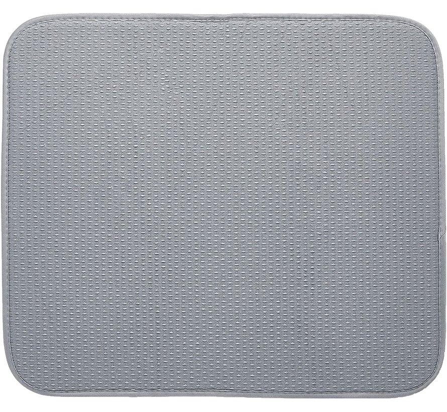 """Dish Drying Mat, Gray 16""""x18"""""""