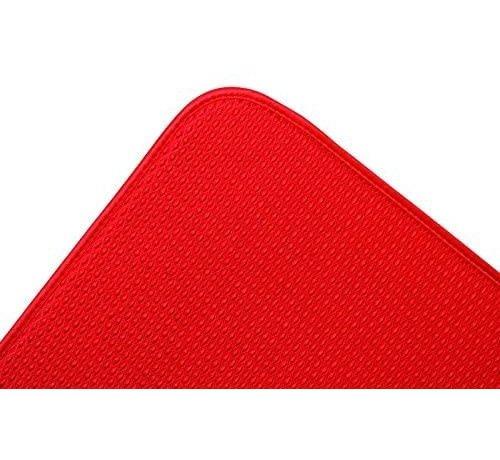 "Fox Run Dish Drying Mat, Red 16""x18"