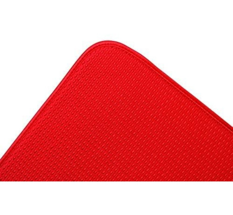 "Dish Drying Mat, Red 16""x18"