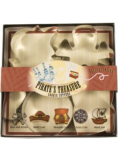 Fox Run Pirate's Treasure Cookie Cutters Set