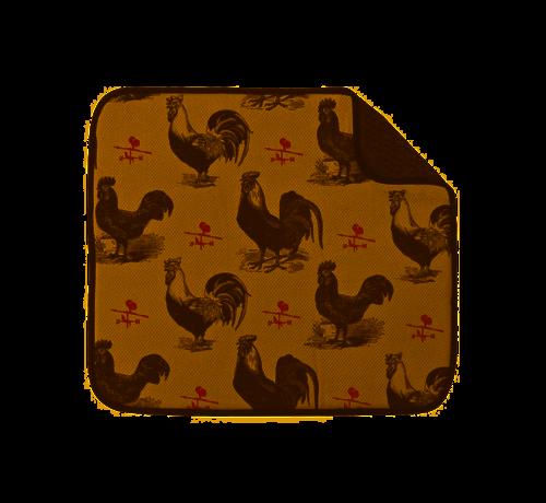 "Fox Run Rooster Dish Drying Mat 16""x18"""