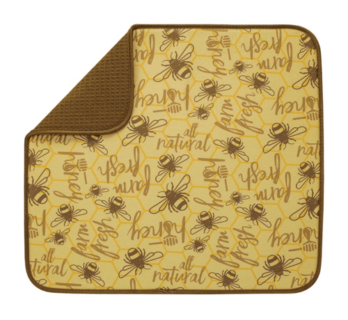 "Fox Run Honey Bee Dish Drying Mat 16""x18"""
