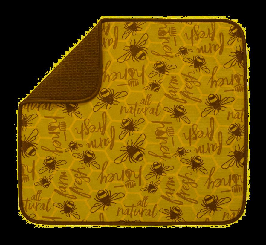 """Honey Bee Dish Drying Mat 16""""x18"""""""