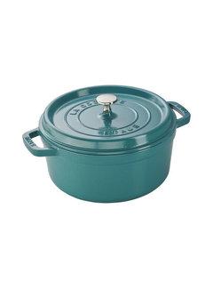 Staub Round Cocotte 4 Quart, Turquoise