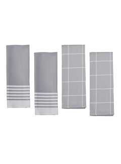 Zwilling Kitchen Towels Grey, 4 Piece. Set