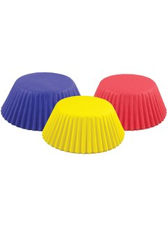 Fox Run Everyday Baking Cups Red, Blue, Yellow 5 CT.