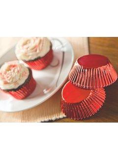 Fox Run Baking Cups Foil Red 32/CT