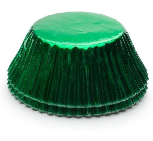 Fox Run Baking Cups, Green Foil 32/CT