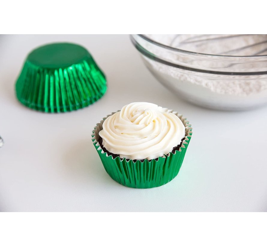 Baking Cups, Green Foil 32/CT