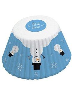 Fox Run Snowman Cupcake Liner