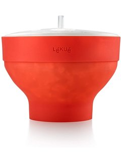 LeKue Popcorn Popper Red