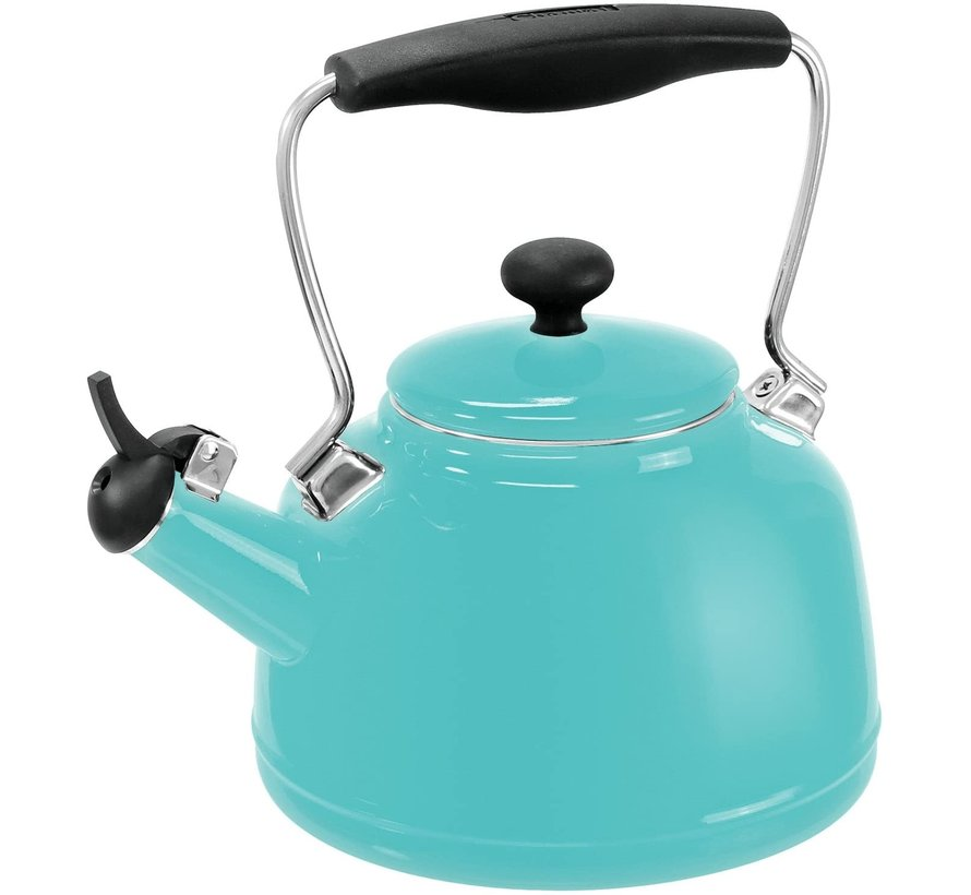 Vintage Teakettle - Aqua 1.7 Qt.