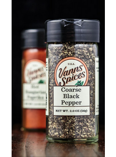 Vanns Spices Black Pepper, Coarse