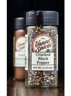Vanns Spices Black Pepper, Cracked