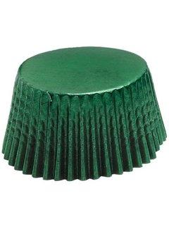 Fox Run Mini Baking Cups, Green Foil 48 Count
