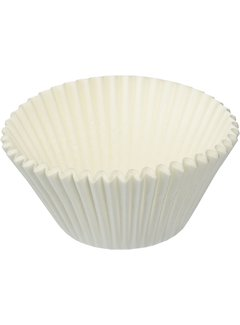 Fox Run Texas Size Bake Cups, White, 24 Count
