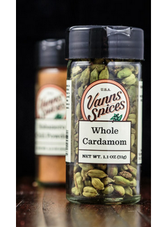 Vanns Spices Cardamom, Whole Green