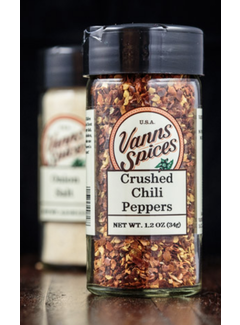 Vanns Spices Chili Peppers, Crushed