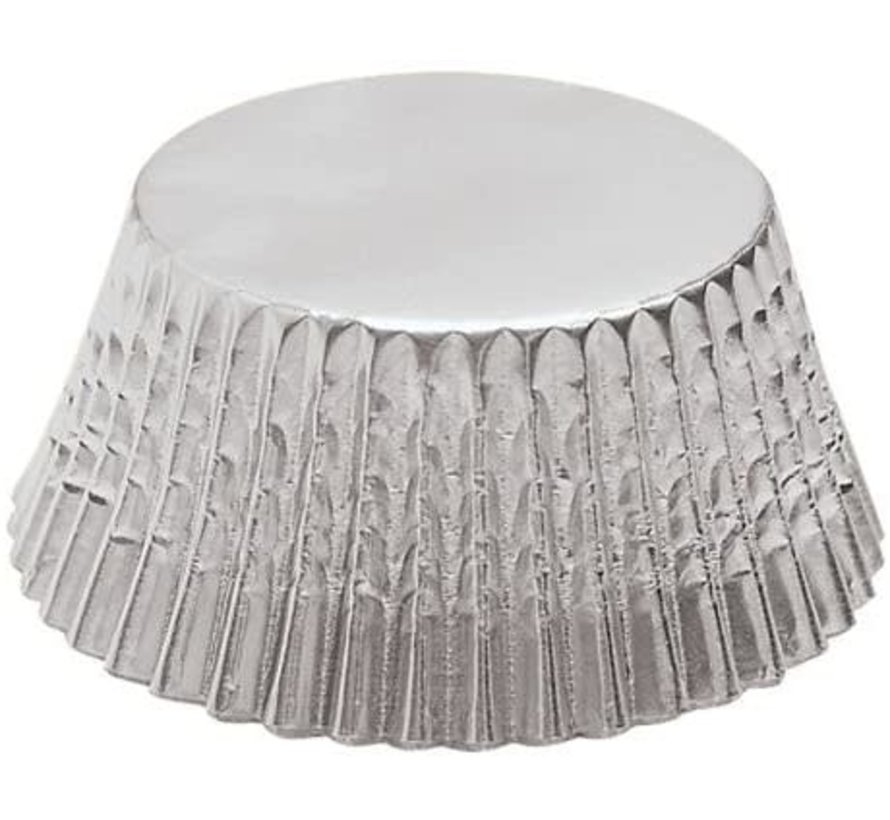 Baking Cups Petit-Four Silver Foil - 48 Count
