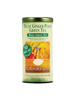 Republic of Tea Decaf Ginger Peach Green Tea