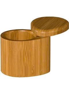 "Totally Bamboo Small Salt Box 3 1/4"" x 2 1/2"" x 2 3/4 """