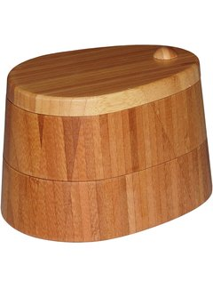 Totally Bamboo Double Salt Box - 1 Cup