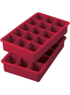 Tovolo Perfect Cube Ice Trays - Set of 2 Cayenne