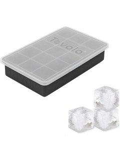 Tovolo Perfect Cube Ice Trays With Lid - Charcoal