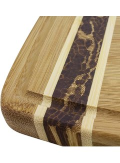 "Totally Bamboo Marbled Bamboo Cutting Board - 18"" x 11"" 3/4"" x 3/4"