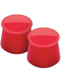 Tovolo Silicone Wine Caps - Candy Apple (Set/2)