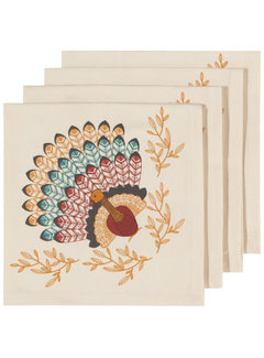 Now Designs Tommy Turkey 4pc Napkin