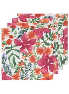 Now Designs Botanica 4pc Napkin Set